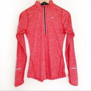 Nike Dri Fit 3/4 Zip Long-sleeve Pullover